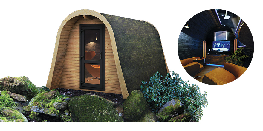 Interiors: Room outside - man cave