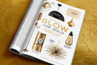 Home interiors: Golden lighting