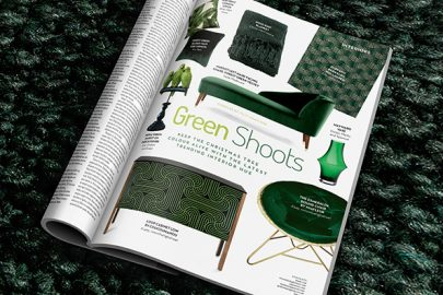 Home interiors: Post-Christmas green hues