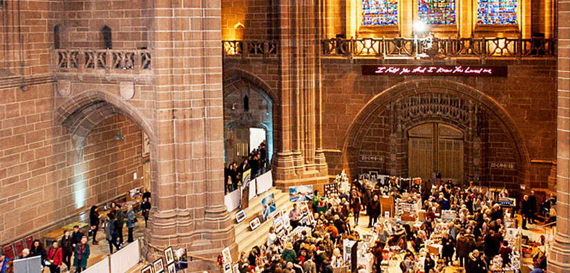 Summer Arts Market, arts market, Liverpool Cathedral