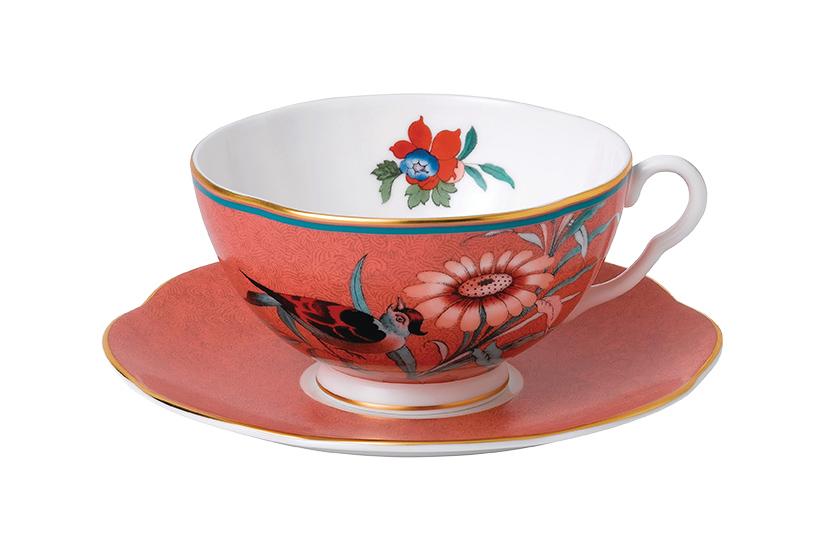 Wedgewood Paeonia teacup and saucer - £55, Amara