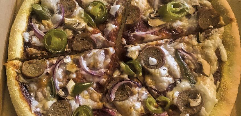 Home Slice Pizza Ltd - Grand Central Food Bazaar - Restaurant review - vegan pizza