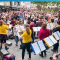 Ready for the Weekend in Liverpool - Street orchestra