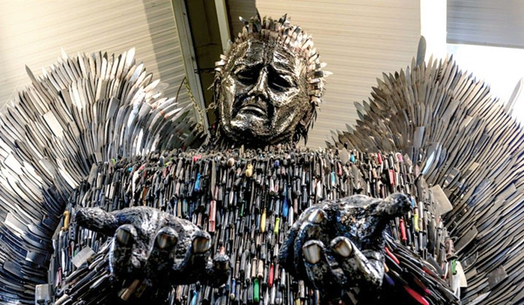 Ready for the Weekend in Liverpool - Knife Angel