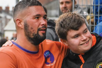 Prescot Cables FC charity football match - Tony Bellew