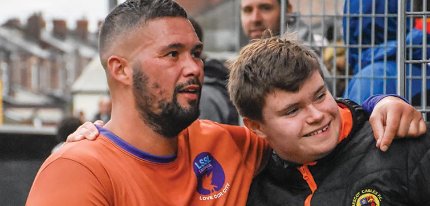 Prescot Cables FC charity football match - Tony Bellew