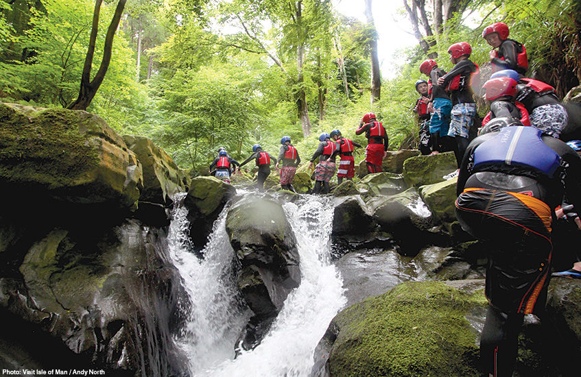 Isle of Man travel guide from Liverpool - gorge walking