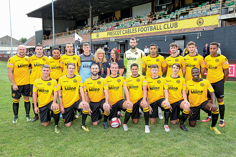 Prescot Cables FC - sponsored by Stewart Milne