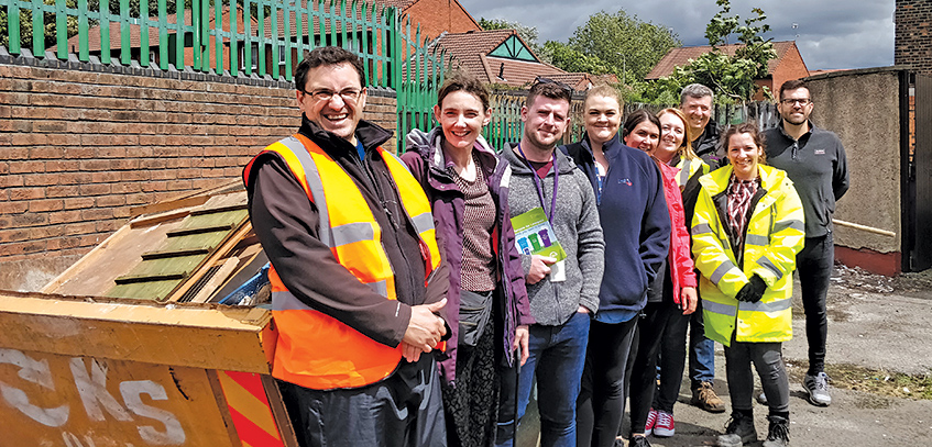 Wavertree, street clean, Your Housing Group